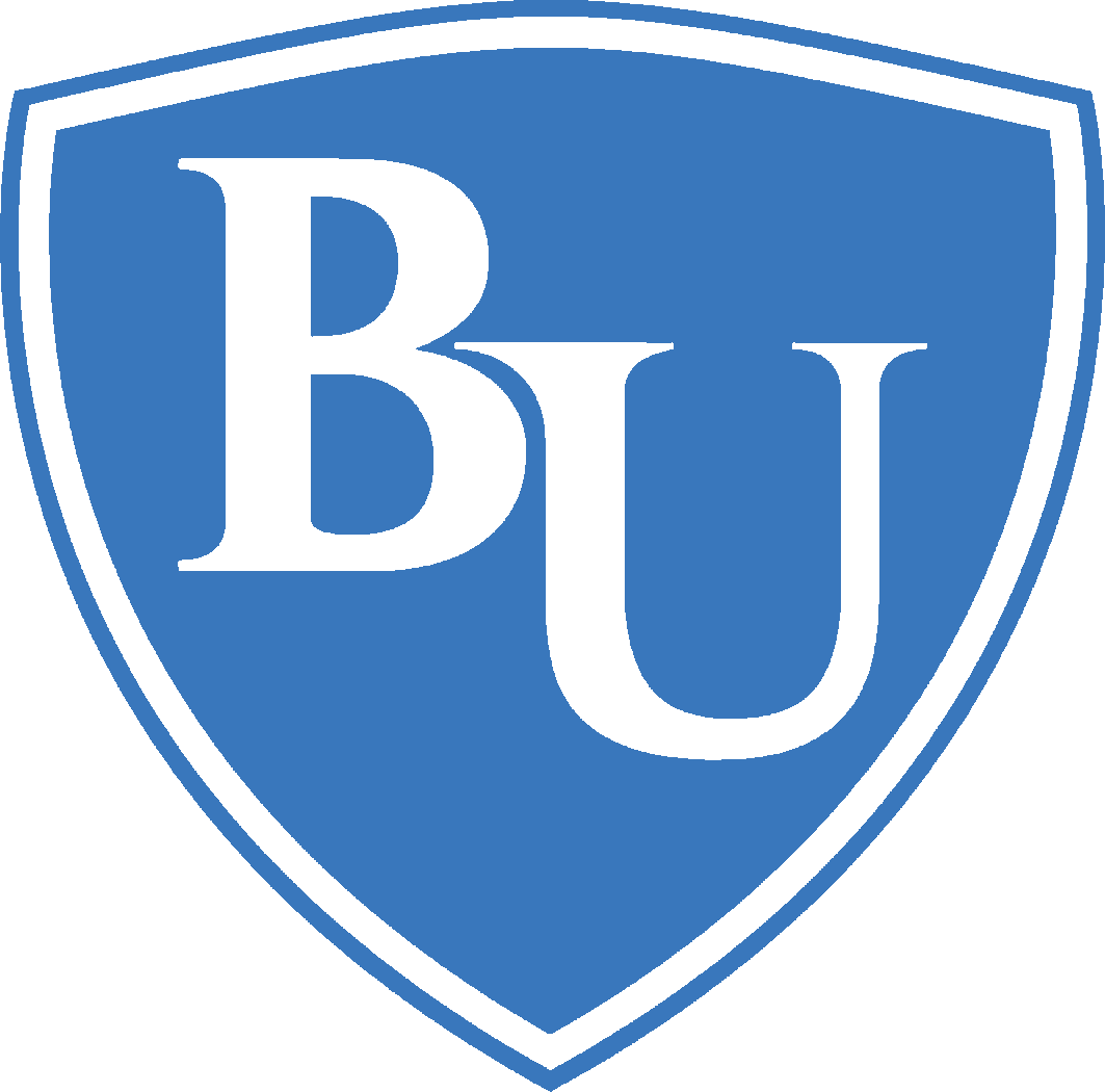 Bryan U blue and white shield logo