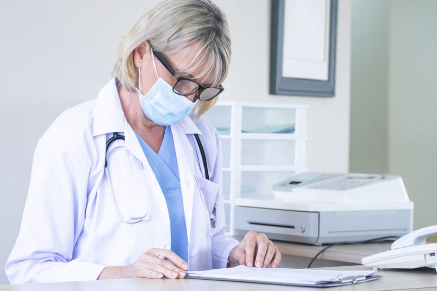 Medical administrative assistant at a doctor's office